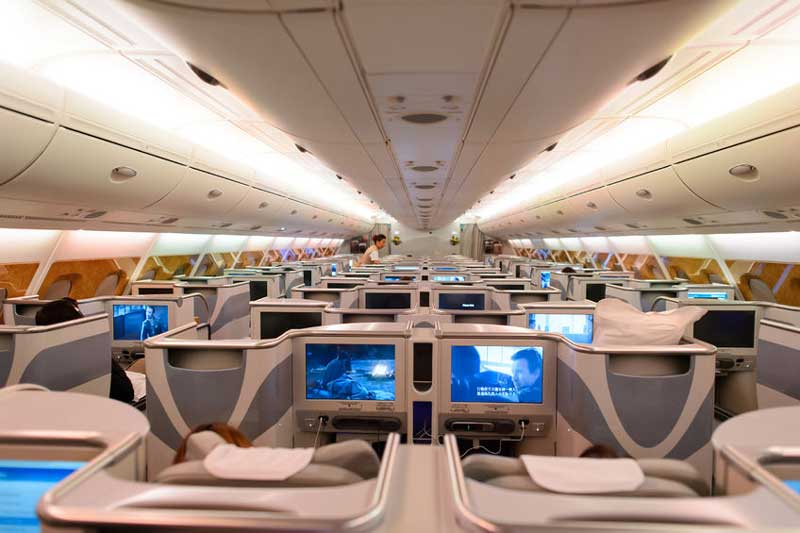A380 business class seating plan