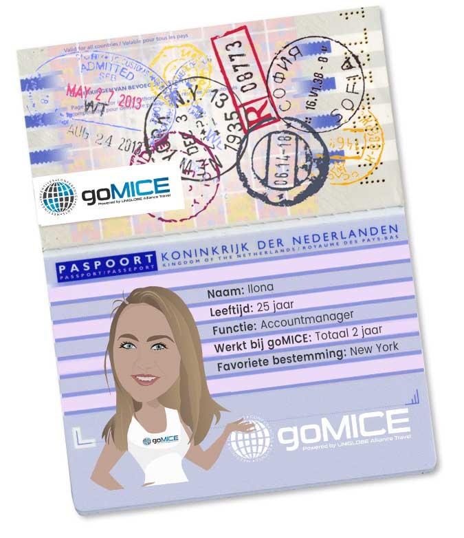 Paspoort goMICE Accountmanager Ilona